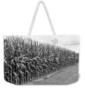 Cornfield Black And White Weekender Tote Bag
