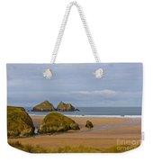 Cornish Seascape Holywell Bay Weekender Tote Bag