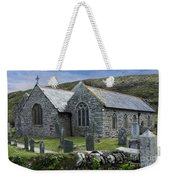 Cornish Seascape St Winwaloe Church Weekender Tote Bag