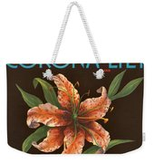 Corona Lily Crate Label Weekender Tote Bag