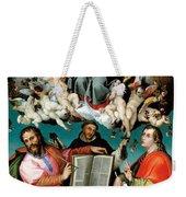 Coronation Of The Virgin With Saints Luke Dominic And John The Evangelist Weekender Tote Bag