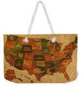 Corporate America Map Weekender Tote Bag