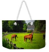 Corralled Horses - Featured In And Lets All Participate And Abc Groups Weekender Tote Bag