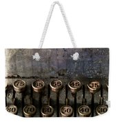 Correct Change Weekender Tote Bag by Carol Leigh