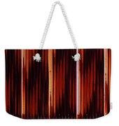 Corrugated Patterns In Orange And Black Weekender Tote Bag