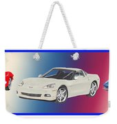 Corvettes In Red White And True Blue Weekender Tote Bag