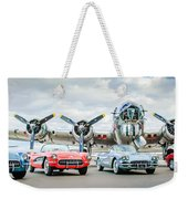 Corvettes With B17 Bomber Weekender Tote Bag