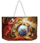Cosmic Clock Weekender Tote Bag by Ciro Marchetti