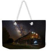 Cosmic Railroad Weekender Tote Bag