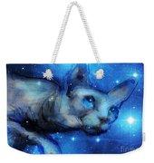 Cosmic Sphynx Cat  Weekender Tote Bag