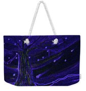 Cosmic Tree Blue Weekender Tote Bag