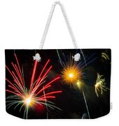 Cosmos Fireworks Weekender Tote Bag by Inge Johnsson