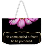 Cosmos Flower With Bible Quote From Esther Weekender Tote Bag