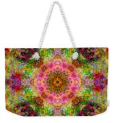 Cosmos Pink Sun Diamond Mandala Weekender Tote Bag