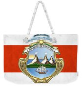 Costa Rica Coat Of Arms And Flag  Weekender Tote Bag