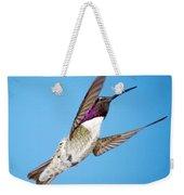 Costa's Hummingbird In Flight Weekender Tote Bag