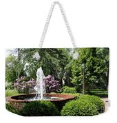 Cottage Garden Fountain Weekender Tote Bag
