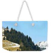 Cottage In Alps Weekender Tote Bag