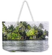 Cottage In The Midst Of Greenery Weekender Tote Bag