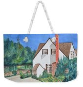 Cottage On A Hill Weekender Tote Bag