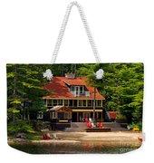 Cottage On A Lake Weekender Tote Bag