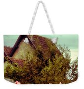Cottage Seen Over A Wall Weekender Tote Bag