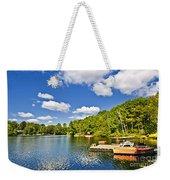 Cottages On Lake With Docks Weekender Tote Bag