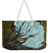Cotton Boll On Wood Weekender Tote Bag by Eloise Schneider