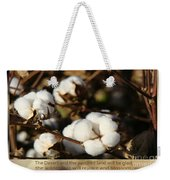 Cotton Bolls Ready For Harvest Weekender Tote Bag
