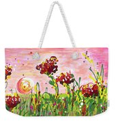 Cotton Candy Flowers Weekender Tote Bag