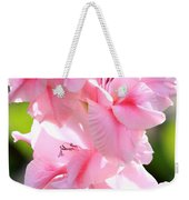 Cotton Candy Gladiolus Weekender Tote Bag