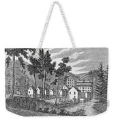 Cotton Factory Village, Glastenbury, From Connecticut Historical Collections, By John Warner Weekender Tote Bag