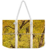 Cottonwood Fall Foliage Colors Rustic Farm Window View Weekender Tote Bag