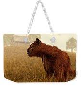 Cougar In A Field Weekender Tote Bag by Daniel Eskridge