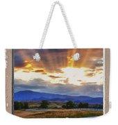 Country Beams Of Light Pealing Picture Window Frame Vie Weekender Tote Bag