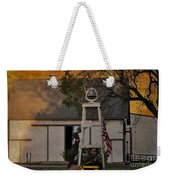 Country Charm - Old Dog Young Dog Several Stupid Dogs - Please Drive Slowly Weekender Tote Bag