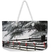 Country Christmas Weekender Tote Bag