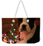 Country Christmas Puppy Weekender Tote Bag