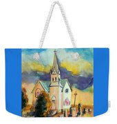 Country Church At Sunset Weekender Tote Bag