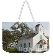 Round Top Texas Country Church Weekender Tote Bag