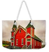 Country Church Paint Weekender Tote Bag