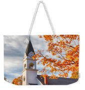 Country Church Under Fall Colors Weekender Tote Bag