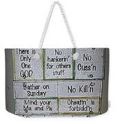 Country Commandments Weekender Tote Bag