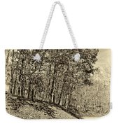 Country Curves And Vultures Sepia          Weekender Tote Bag