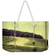 Country Dirt Road And Telephone Poles Weekender Tote Bag