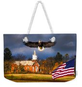 country Eagle Church Flag Patriotic Weekender Tote Bag