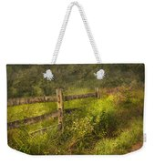 Country - Fence - County Border  Weekender Tote Bag by Mike Savad