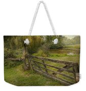 Country - Gate - Rural Simplicity  Weekender Tote Bag