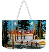 Country Hockey Rink Weekender Tote Bag