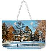 Country Home Watercolor Weekender Tote Bag